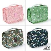 多彩繽紛懸掛式防潑水盥洗包-顏色隨機出貨(40x24x9.5 cm)