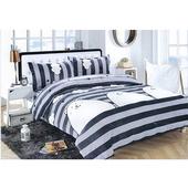 防靜電法蘭絨鋪棉四件床包組-款式隨機出貨(雙人5x6.2尺)