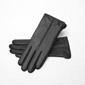 女士觸屏加絨保暖真皮手套(M)