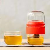 玻璃便攜快客杯-13.1X6.6cm(紅色)