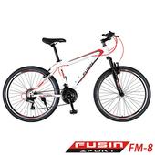 《預購6/15出貨FUSIN》FM-8 26吋 日本SHIMANO 21速 登山車-DIY版(白紅)