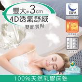 《格藍傢飾》纖柔4D透氣兩用乳膠床墊-3CM(雙人加大)