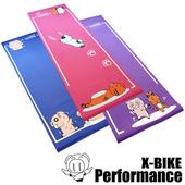 《X-BIKE 晨昌》卡通造型-環保無毒-瑜珈墊(SGS無毒檢驗合格)(A款-藍色)