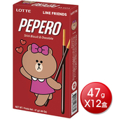 《Lotte》Pepero巧克力棒(47公克/盒*12)