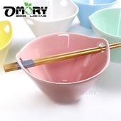 《OMORY》禪風錐形雙耳孔陶瓷插筷碗-五色可選(粉色)