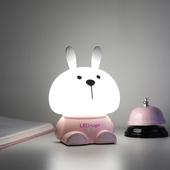 兔子拍拍多色夜燈(灰 12X11X16cm)
