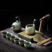 粗陶窯變茶具組