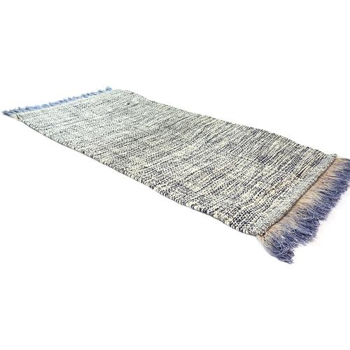 《SCENEAST》印式工藝 暈彩流蘇地墊 寶藍 523-01-V1 (navy blue)(50*80 cm)