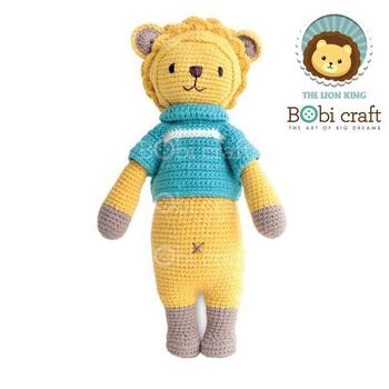 《Bobi》勾針娃娃-黃色獅子-里昂-Chubby Leo(40(H) WT-177YEL-M-L)