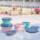 環保矽膠摺疊碗