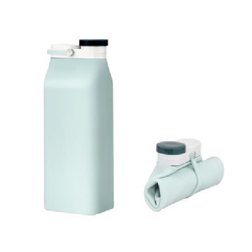 歐式牛奶盒摺疊水壺(淺綠 600ml)