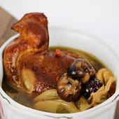 《【高興宴】素人上菜》養氣香菇素麻油雞1200g(蛋奶素)(適合4-6人份)(現貨D+5)