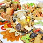 《【高興宴】素人上菜》豪華精選單人套餐組(梅干扣肉+猴頭菇+魚豆腐+烏魚子+佛跳牆)(現貨D+5)