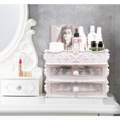 北歐雙層多格化妝盒-25.5X17X23cm白 $289