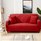 貓抓厚織彈力沙發套-艷紅