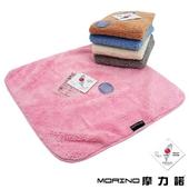 《MORINO》超細纖維大方巾(粉 37X37cm)