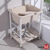 【LOGIS】輕巧ABS塑鋼洗衣槽 64CM * 56CM 洗手槽 洗手台 A1006(米白)