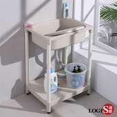 【LOGIS】簡單ABS塑鋼洗衣槽 62CM * 48CM 洗手槽 洗手台 A1011(米白)