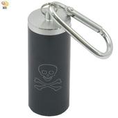 《月陽》簡易版鋁合金行動便攜式隨身煙灰缸收納盒(YS6524)(黑色)