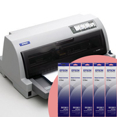 《EPSON》LQ-690 點陣印表機 24針點矩陣 ※隨機加贈延保卡+色帶五條