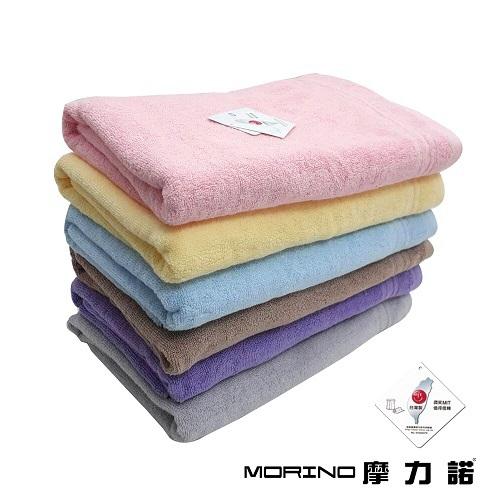 《MORINO》飯店級素色緞條浴巾(粉 74X150cm)