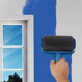 填充式油漆滾筒刷具六件組大滾筒刷、小滾筒刷、透明筒子、牆邊刷、拖盤各X1、伸縮桿X3