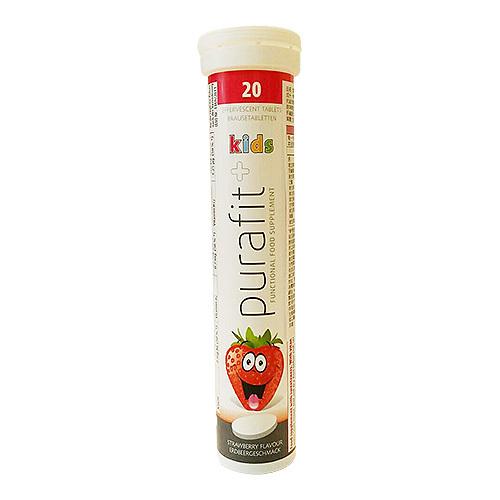 《德國Purafit》草莓風味發泡錠(90g(20錠)/條)