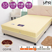 《床墊【Kailisi名床】》天天好眠冬夏兩用床墊 (一布一蓆)(3.5尺單人-黃)