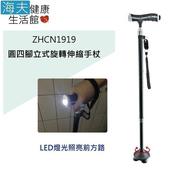 《海夫健康生活館》日華 拐杖手杖 立式/伸縮/鋁合金/附LED燈(ZHCN1919)