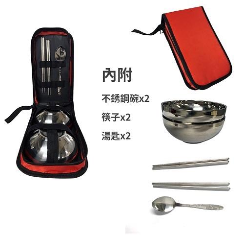 304不鏽鋼攜帶餐具組(藍色)