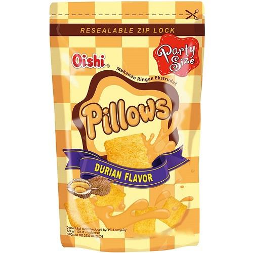《Oishi》枕頭造型餅乾-110g/包(榴槤-即期2020.07.31)