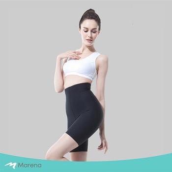 《MARENA》日常塑身運動系列 輕塑高腰五分塑身褲(黑色 S)