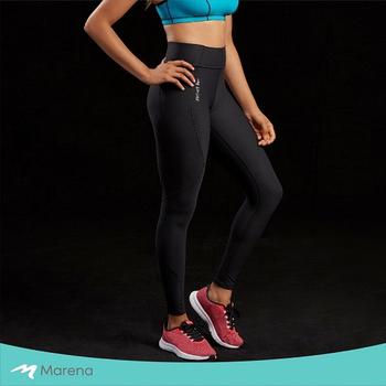 《MARENA》日常塑身運動系列 中腰九分女性運動塑身褲(黑色 S)