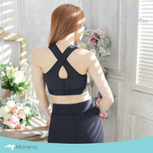 《MARENA》日常塑身運動系列 美背前拉鍊式專業運動內衣(黑色 M)