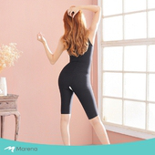 《MARENA》強效完美塑形系列 護腰美背膝上式收腹塑身衣(黑色 XL)
