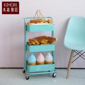 《木森雅居》KIMORI  三層360º可移動式置物籃 (多色可選)(Tiffany綠)