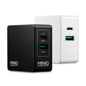 《MINIQ》QC3.0+PD電源供應器 TYPE-C埠 AC-DK23T(黑色)