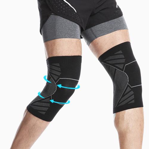 《AOLIKES》針織彈力運動護膝(L)