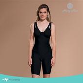 《MARENA》強效完美塑形系列 腹部加強美體膝上型塑身衣(黑色 XXS)