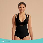 《MARENA》強效完美塑形系列 護腰美背比基尼型排扣式塑身衣(黑色 XS)