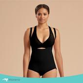 《MARENA》強效完美塑形系列 護腰美背比基尼型排扣式塑身衣(黑色 M)