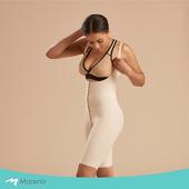 《MARENA》強效完美塑形系列 護腰美背膝上型排扣式塑身衣(膚色 XXS)