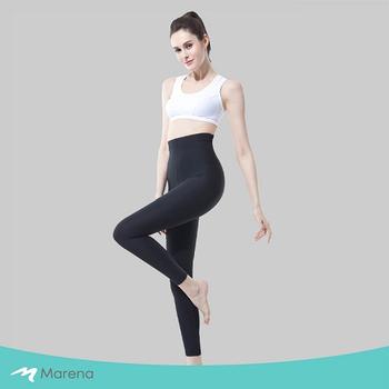 《MARENA》日常塑身運動系列 輕塑高腰九分塑身褲(黑色 M)