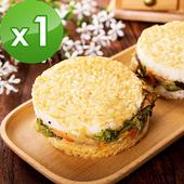 《樂活e棧》鮮蔬米漢堡(6顆/袋)-全素(1袋)