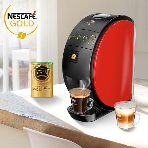 《雀巢》金牌微研磨咖啡機SHIGA紅色(1/台)