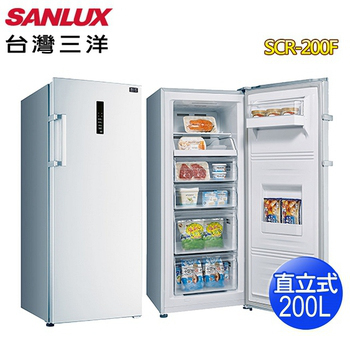 《SANLUX 台灣三洋》200公升直立式冷凍櫃SCR-200F(含拆箱定位)
