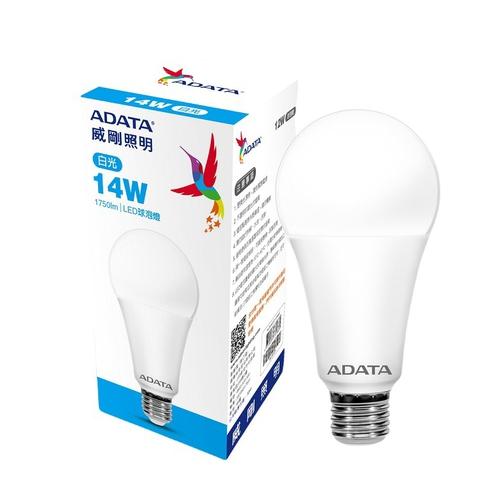 《威剛》LED 14W球泡燈(白光 AL-BUA22C2-14W65C)