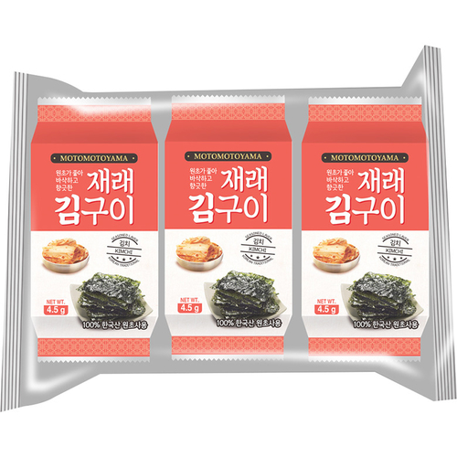 《MOTOMOTOYAMA》朝鮮海苔-13.5g(泡菜)