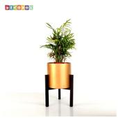 《DecoBox》時尚紅金小花架(園藝.花架.花台.盆景架.花插.攀爬架.鍛鐵花器)