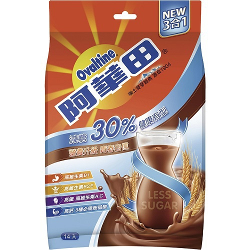 《阿華田》減糖巧克力營養麥芽飲品(31gx14入)